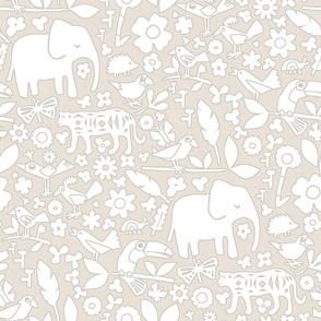 line art safari neutral
