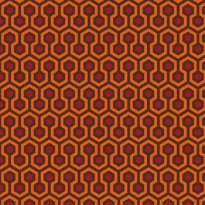 Overlook Hotel Carpet from The Shining: Orange/Red/Brown (small version)