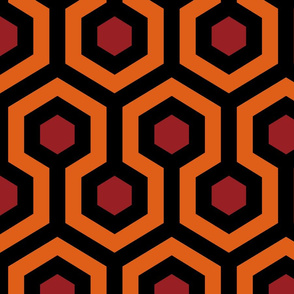 Overlook Hotel Carpet from The Shining: Orange/Red/Black (large version)