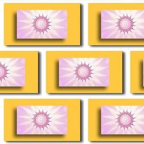 Pastel Sun Art Brick