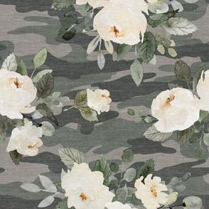 Floral Camo - Flowers & Camouflage - Medium