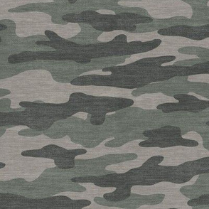 Brown & Green Camouflage - Textured Distressed Camo