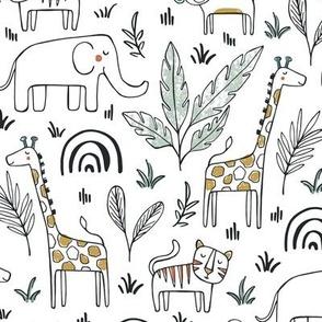 Sleepy Safari - Nursery Animals Regular Scale