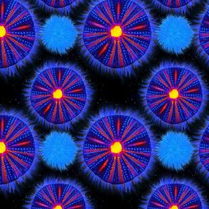 Cute glowing urchins