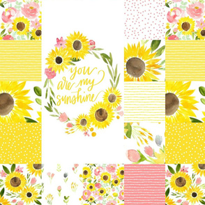 You are My Sunshine Sunflower Fields - Quilt