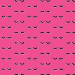 Bright Pink Eyelashes