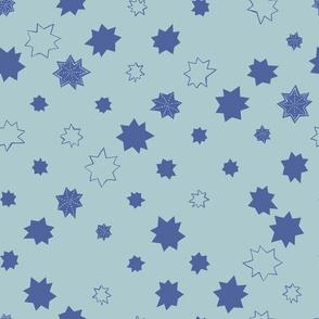 Sea Stars in Malibu Blue