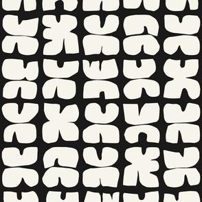 Xpot Block Print, black and cream