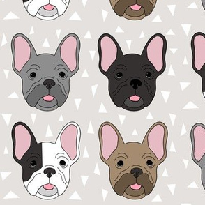Frenchies on light greige