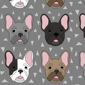 Frenchies on grey