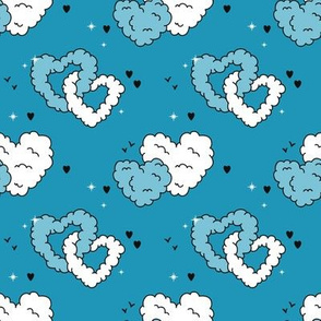 Love is in the air - blue teal