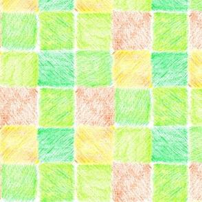 Spring Pastures Patchwork Picnic Cloth - Medium Scale