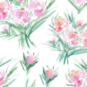peonies for princess - watercolor bouquet p271
