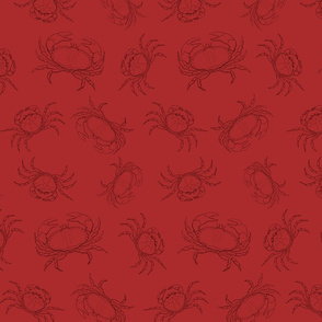 Sea Crabs in Two Tone Red