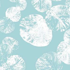 Sea Grapes White on Sea Green B 150