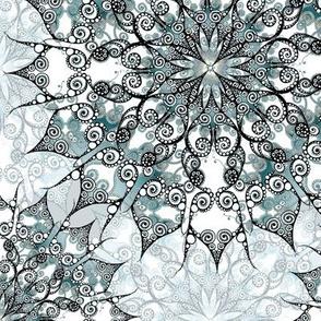 Mandala grey