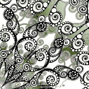 XXL Mandala olive grey