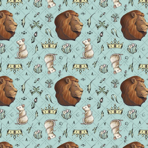 Lion and the Mouse Pattern