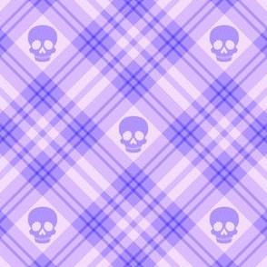 Skull Tartan Plaid in Purple 1/2 Size