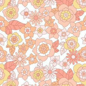 Party in the Garden- peach and orchid