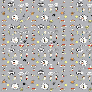 Super Hero gray pattern