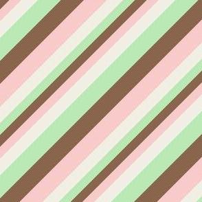 Diagonal Spumoni Stripe