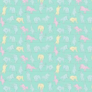 Mint Elephants on a Tightrope