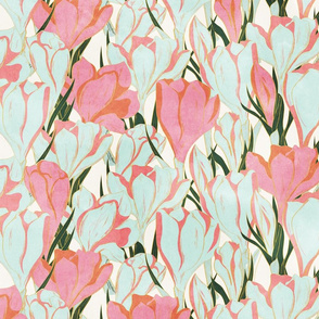 Crocus Pink and Pale Blue