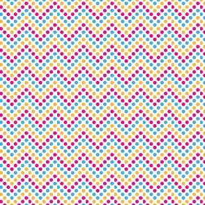 Zig Zag Polka Dots in Bunny