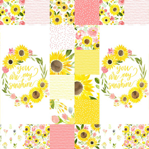 You are My Sunshine Sunflower Fields - medium Quilt