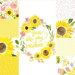 You are My Sunshine Sunflower Fields - XL Quilt