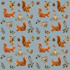 Squirrels Woodland, Storm Grey