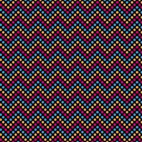 Zig Zag Polka Dots in Disco Bunny