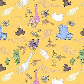 Animal babies yellow