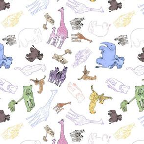 Animal babies white medium
