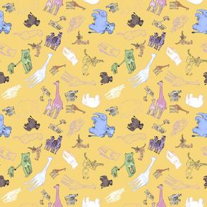 Baby animals yellow mini