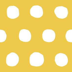 Jumbo Dots in flax/natural