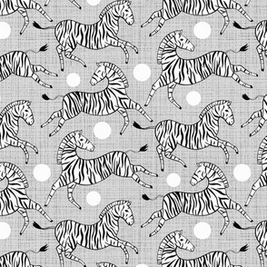 Zebras on Grey (Small Version)