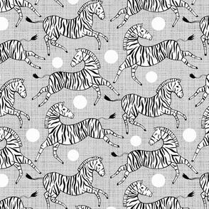 Zebras on Grey (Small Version)