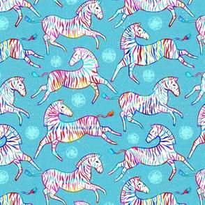 Radiant Rainbow Zebras (Small Version)