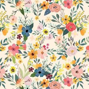 "7"" Floral Garden - Ivory"