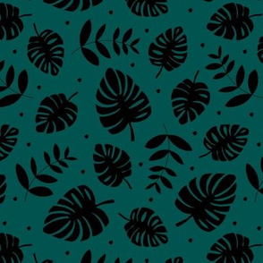 Little lush leaves jungle garden summer island boho hawaii nursery print neutral girls pink forest green black