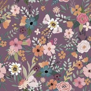 """7"""" Floral Garden - purple"""