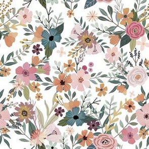 "7"" Floral Garden - White"