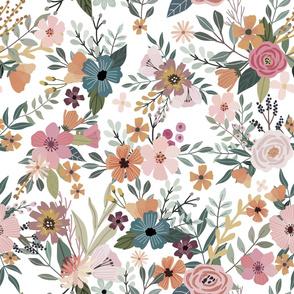 "32"" Floral Garden - White"
