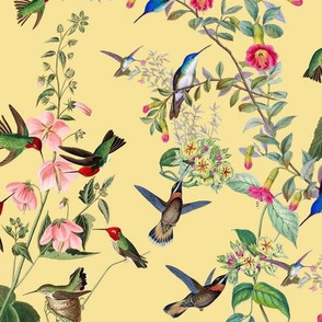HUMMINGBIRDS (YELLOW)