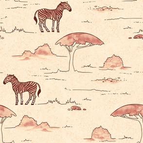 Apricot Zebra Safari