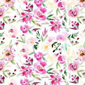 Spring in Versailles ★ smaller scale watercolor flowers for modern nursery, baby girl