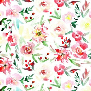 Spring in Versailles ★ watercolor flowers for modern romantic home decor, bedding, nursery