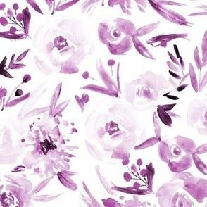Plum Spring in Versailles watercolor flowers p272